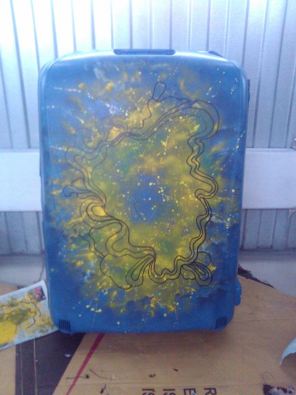 Роспись чемодана для «Алтай Дайва»