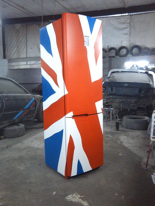 Британский флаг на холодильнике