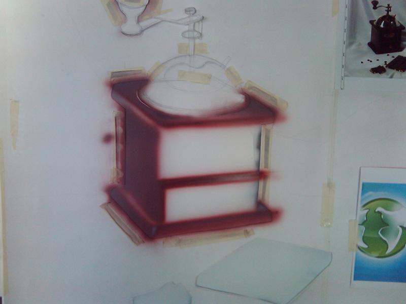 Натюрморт на кухонном фасаде