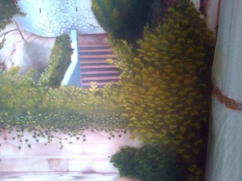 Роспись стены — пейзаж