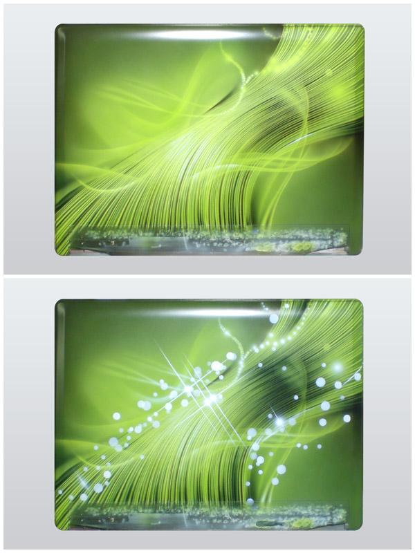 Зеленая абстракция на ноутбуке