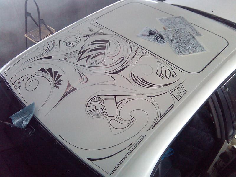 Роспись маркером автомобиля Ауди А6 (Шарпи-арт)