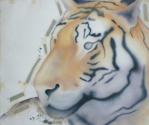 Рисование шерсти тигра