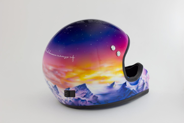 Горный Алтай на шлеме