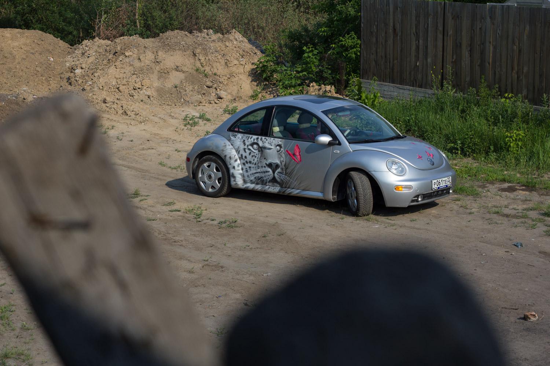 Аэрография на автомобиле «Фольксваген Жук»