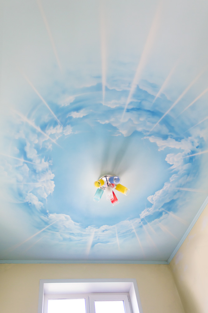 Фото облака на потолке своими руками