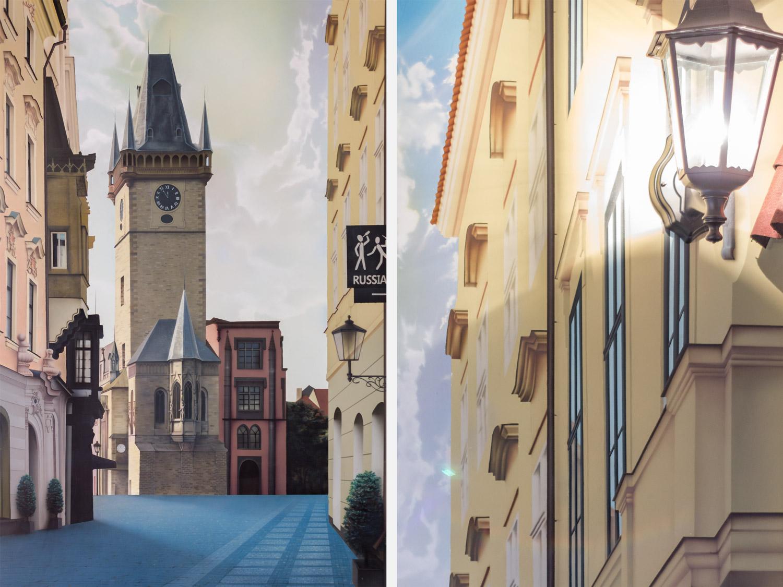 Прага — роспись стены