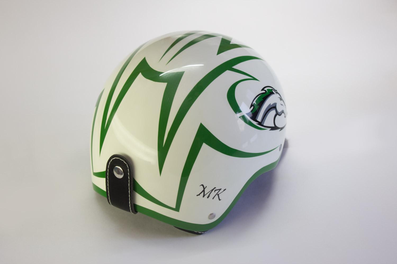 Аэрография шлема для конного спорта