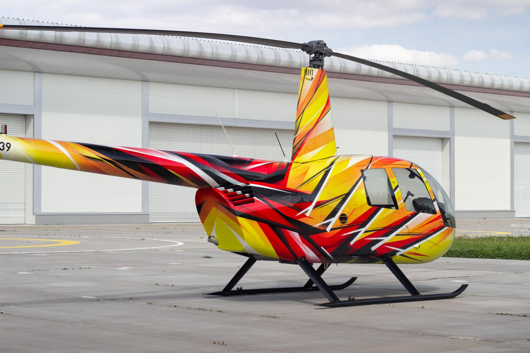 Покраска вертолета «Робинсон»