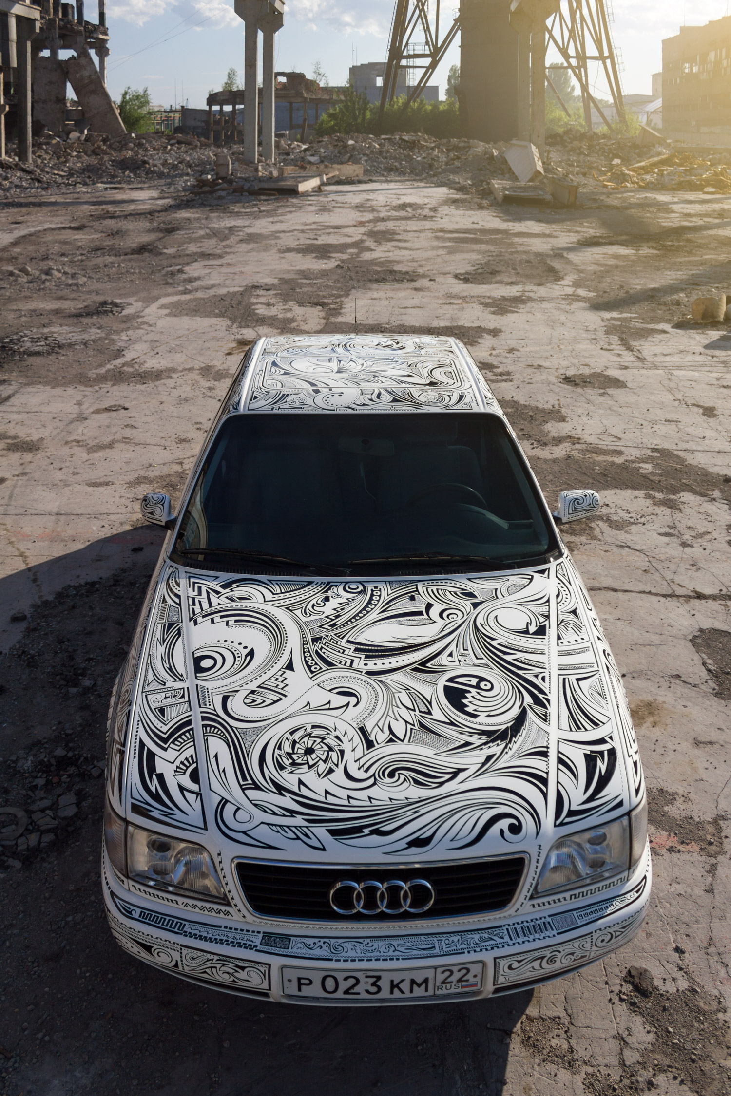Роспись маркером Ауди  А6 (Sharpie-art)