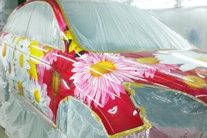 Создание аэрографии на автомобиле Хода ЦР-В