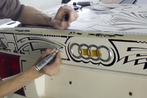 Роспись маркером Ауди А6 (Шарпи-арт)