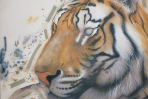 Создание шерсти тигра